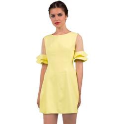 Textil Mulher Vestidos curtos Minueto Vestido Bella Amarelo