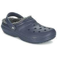 Sapatos Tamancos Crocs CLASSIC LINED CLOG Marinho / Cinza
