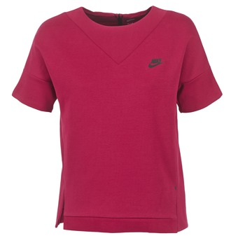 Textil Mulher Sweats Nike TECH FLEECE CREW Bordô