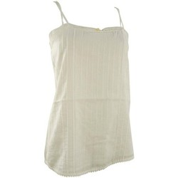 Textil Mulher Tops sem mangas Quiksilver White water cami Bege