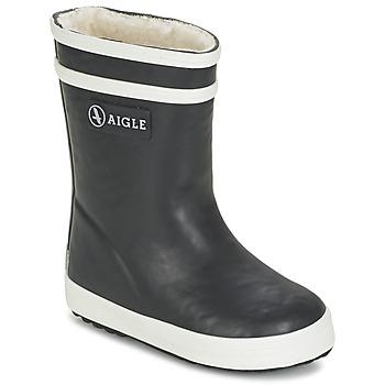 Sapatos Criança Botas de borracha Aigle BABY FLAC FUR Marinho