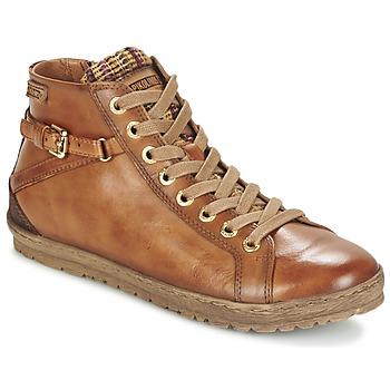 Sapatos Mulher Sapatilhas de cano-alto Pikolinos LAGOS 901 Conhaque