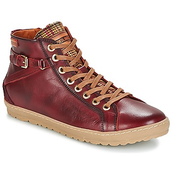 Sapatos Mulher Sapatilhas de cano-alto Pikolinos LAGOS 901 Bordô