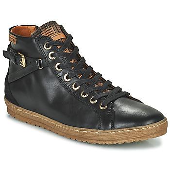 Sapatos Mulher Sapatilhas de cano-alto Pikolinos LAGOS 901 Preto