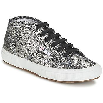Sapatos Mulher Sapatilhas de cano-alto Superga 2754 LAMEW Prata
