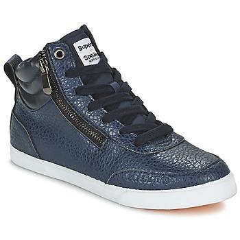Sapatos Mulher Sapatilhas de cano-alto Superdry NANO ZIP HI TOP SNEAKER Azul