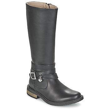 Sapatos Rapariga Botas Garvalin IRATIA Preto