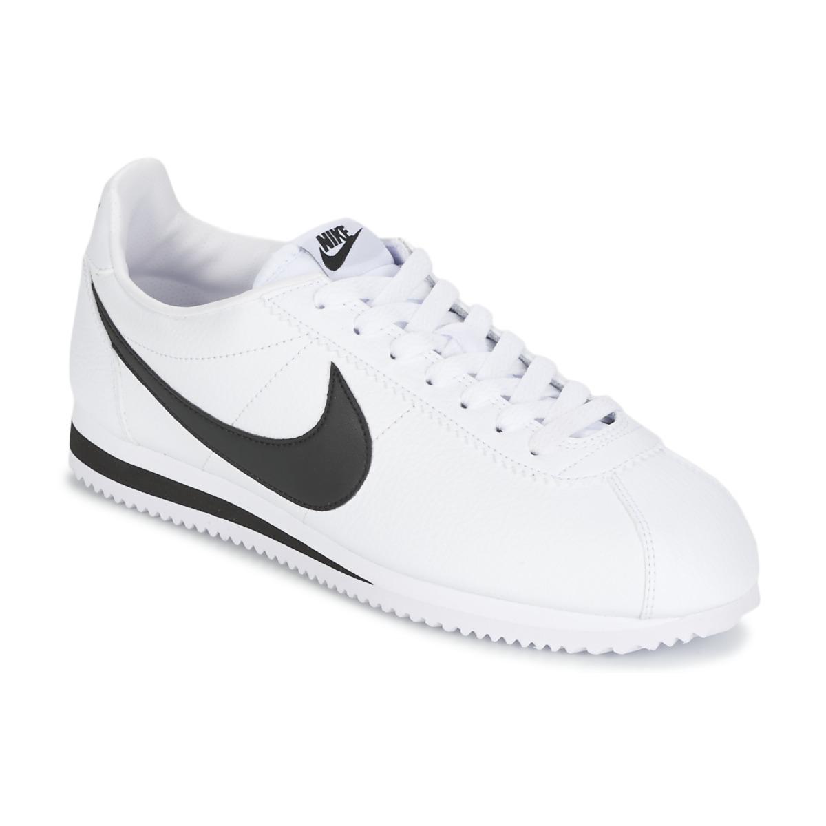 sale retailer 9aef5 dc0d4 Nike CLASSIC CORTEZ LEATHER Branco   Preto - Entrega gratuita   Spartoo.pt  ! - Sapatos Sapatilhas Homem 87,00 €