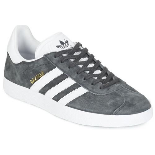 Sapatos Sapatilhas adidas Originals GAZELLE Cinza / Escuro
