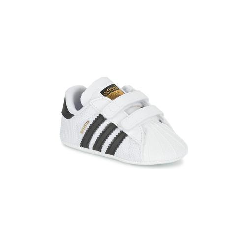 Sapatos Criança Sapatilhas adidas Originals SUPERSTAR CRIB Branco