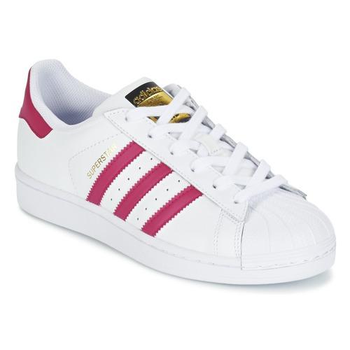 Sapatos Rapariga Sapatilhas adidas Originals SUPERSTAR FOUNDATIO Branco