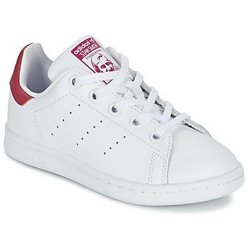 Sapatos Rapariga Sapatilhas adidas Originals STAN SMITH EL C Branco / Rosa