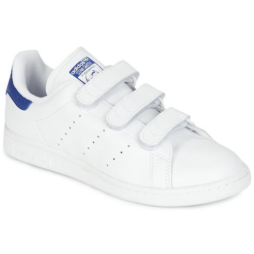 Sapatos Sapatilhas adidas Originals STAN SMITH CF Branco / Azul