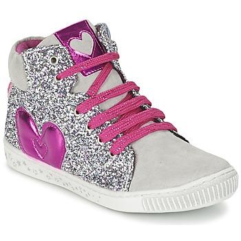 Sapatos Rapariga Sapatilhas de cano-alto Agatha Ruiz de la Prada BUSOULI Prateado
