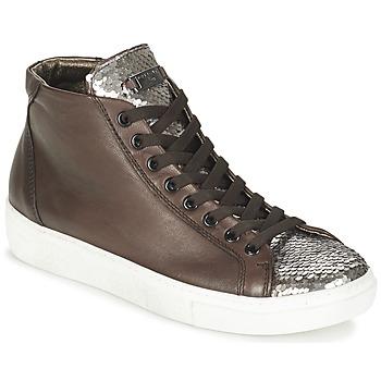 Sapatos Mulher Sapatilhas de cano-alto Tosca Blu ALEXA Castanho / Prateado