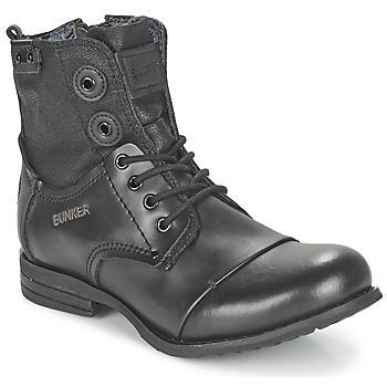 Sapatos Mulher Botas baixas Bunker SARA Preto
