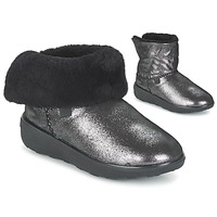 Sapatos Mulher Botas baixas FitFlop SUPERCUSH MUKLOAFF SHIMMER Prata