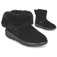 Sapatos Mulher Botas baixas FitFlop MUKLUK SHORTY 2 BOOTS Preto