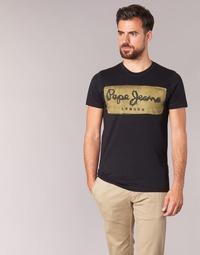 Textil Homem T-Shirt mangas curtas Pepe jeans CHARING Preto