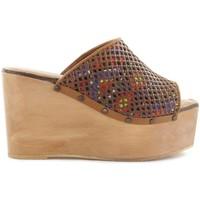 Sapatos Mulher Chinelos Cubanas Soca Plum110 Castanho