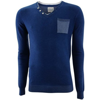 Textil Homem camisolas Petrol Industries Round neck double collar knit Azul