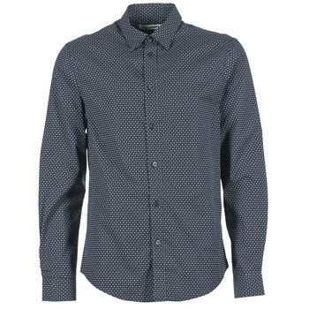 Textil Homem Camisas mangas comprida Ben Sherman LS MICRO PAISLEY Marinho