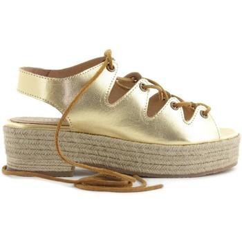 Sapatos Mulher Alpargatas Cubanas Sandália Florence130M Ouro