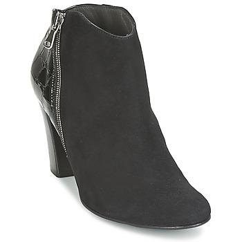 Sapatos Mulher Botas baixas France Mode NANTES Preto / Verniz