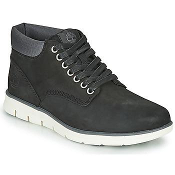 Sapatos Homem Sapatilhas de cano-alto Timberland BRADSTREET CHUKKA LEATHER Preto