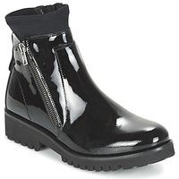 Sapatos Mulher Botas baixas Regard REJABI Preto / Verniz