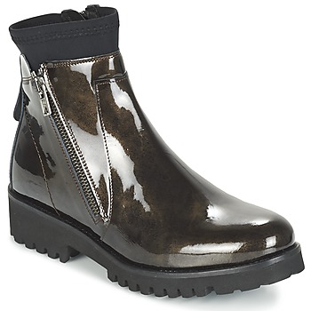 Sapatos Mulher Botas baixas Regard REJABI Bronze / Verniz