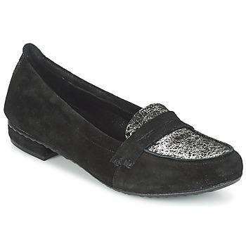 Sapatos Mulher Mocassins Regard REMAVO Preto / Veludo