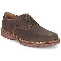 Sapatos Homem Sapatos Clarks NEWKIRK PLAIN Castanho