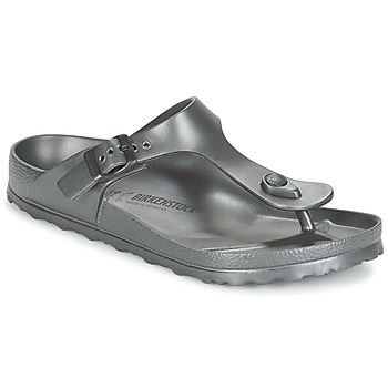 Sapatos Mulher Chinelos Birkenstock GIZEH EVA Antracite / Metálico