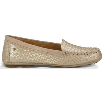 Sapatos Mulher Mocassins UGG Mocassin Dari Metallic Ouro