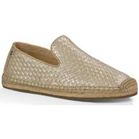 Sapatos Mulher Mocassins UGG Slipper Sandrinne Metallic Ouro