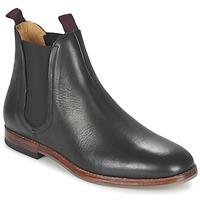 Sapatos Homem Botas baixas Hudson TAMPER CALF Preto