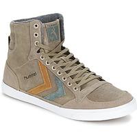 Sapatos Sapatilhas de cano-alto Hummel TEN STAR DUO OILED HIGH Castanho