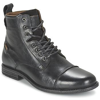 Sapatos Homem Botas baixas Levi's EMERSON LACE UP Preto