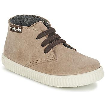 Sapatos Criança Sapatilhas de cano-alto Victoria SAFARI SERRAJE KID Toupeira