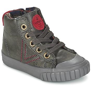 Sapatos Criança Sapatilhas de cano-alto Victoria BOTA NAPA PU Cinza
