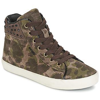 Sapatos Rapariga Sapatilhas de cano-alto Geox KIWI GIRL Verde