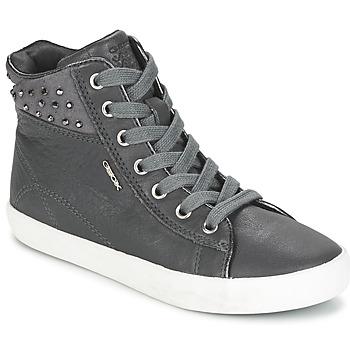 Sapatos Rapariga Sapatilhas de cano-alto Geox KIWI GIRL Cinza