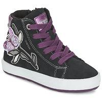 Sapatos Rapariga Sapatilhas de cano-alto Geox WITTY Preto