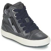 Sapatos Rapariga Sapatilhas de cano-alto Geox WITTY Cinza