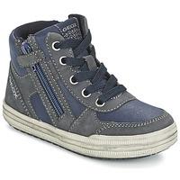 Sapatos Rapaz Sapatilhas de cano-alto Geox ELVIS Azul / Cinza