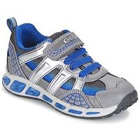 Sapatos Rapaz Sapatilhas Geox SHUTTLE BOY Cinza / Azul