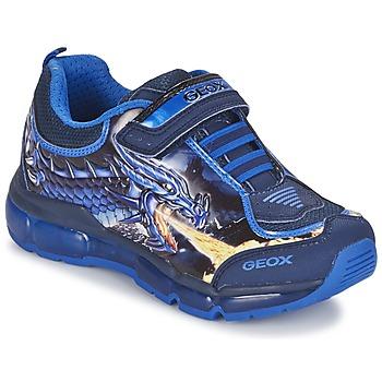 Sapatos Rapaz Sapatilhas Geox ANDROID BOY Azul