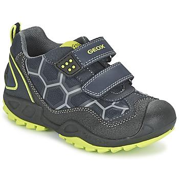 Sapatos Rapaz Sapatilhas Geox NEW SAVAGE BOY Azul / Amarelo