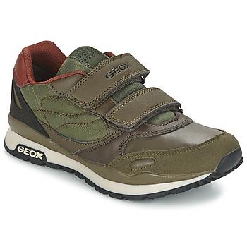 Sapatos Rapaz Sapatilhas Geox PAVEL Verde / Laranja
